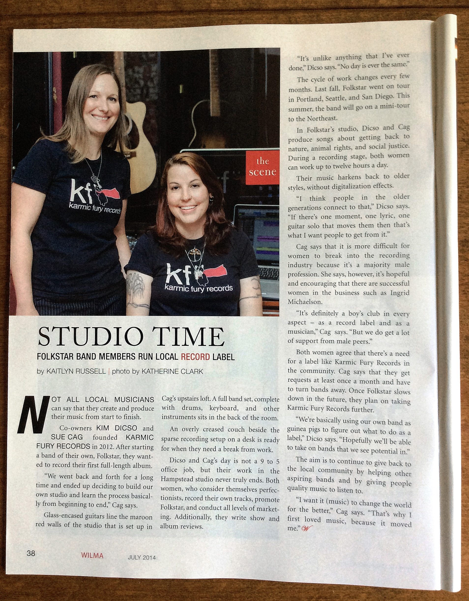 Wilma Magazine article about KFR