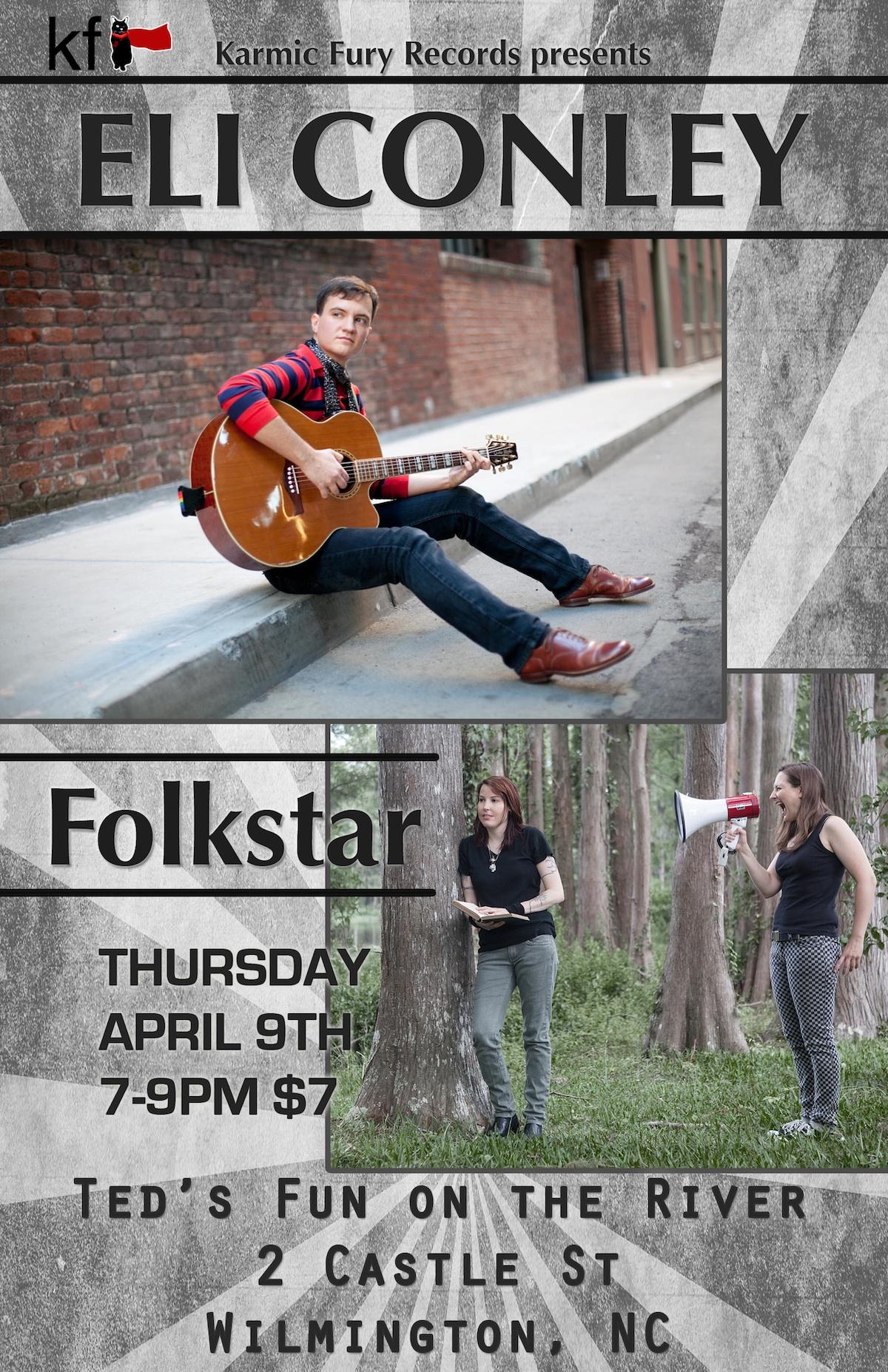 Eli Conley Folkstar Event Poster